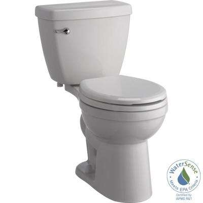 Foundations 2-Piece 1.28 GPF Single Flush Round Front Toilet with Sanborne Slow-Close NightLight Seat in White