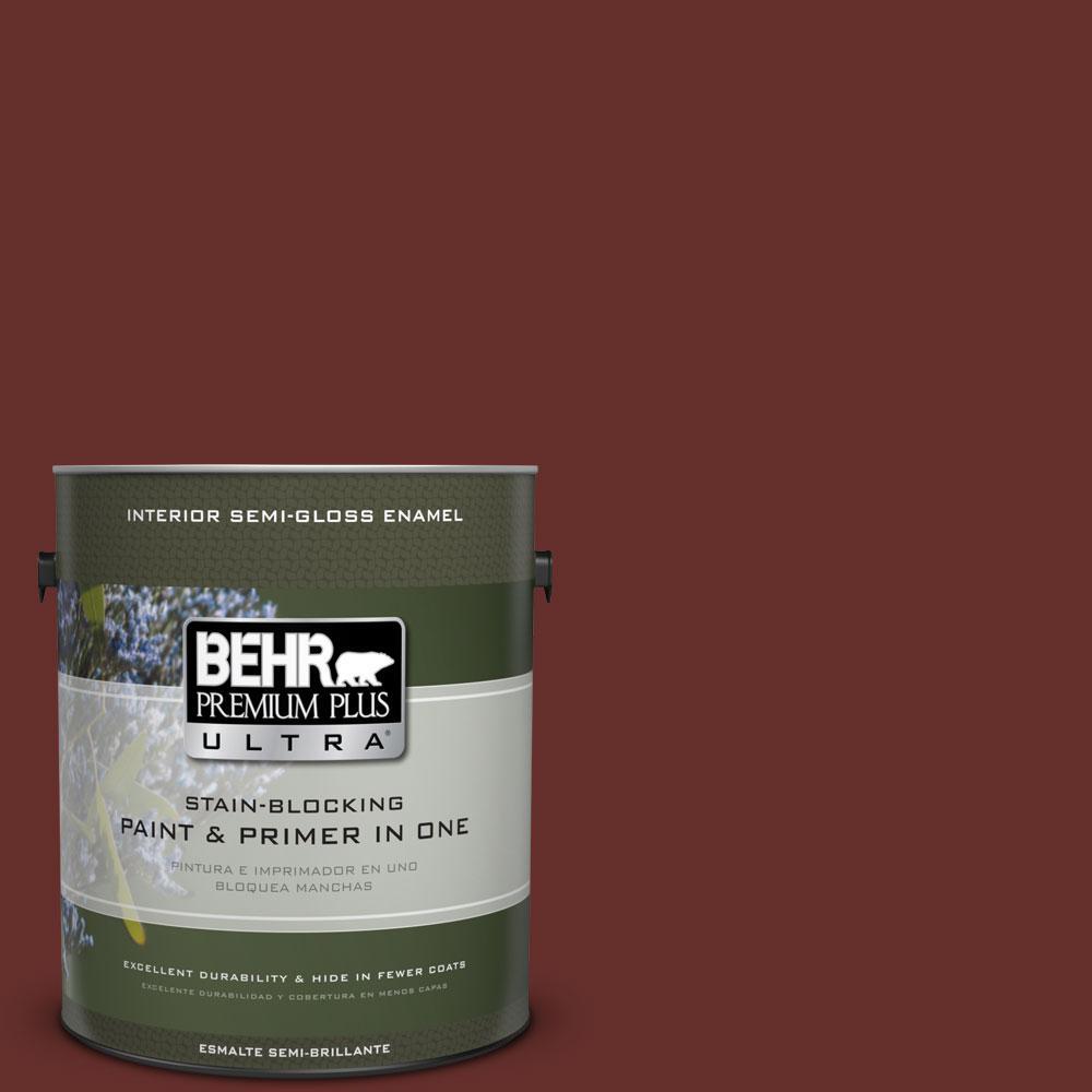 BEHR Premium Plus Ultra 1-gal. #ecc-31-3 Autumn Leaves Semi-Gloss Enamel Interior Paint, Reds/Pinks