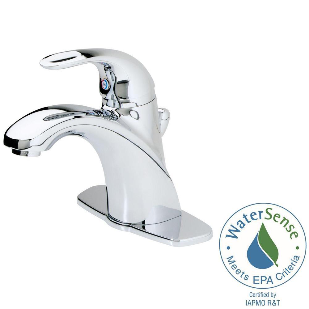 Parisa Single Hole Single-Handle Bathroom Faucet in Polished Chrome