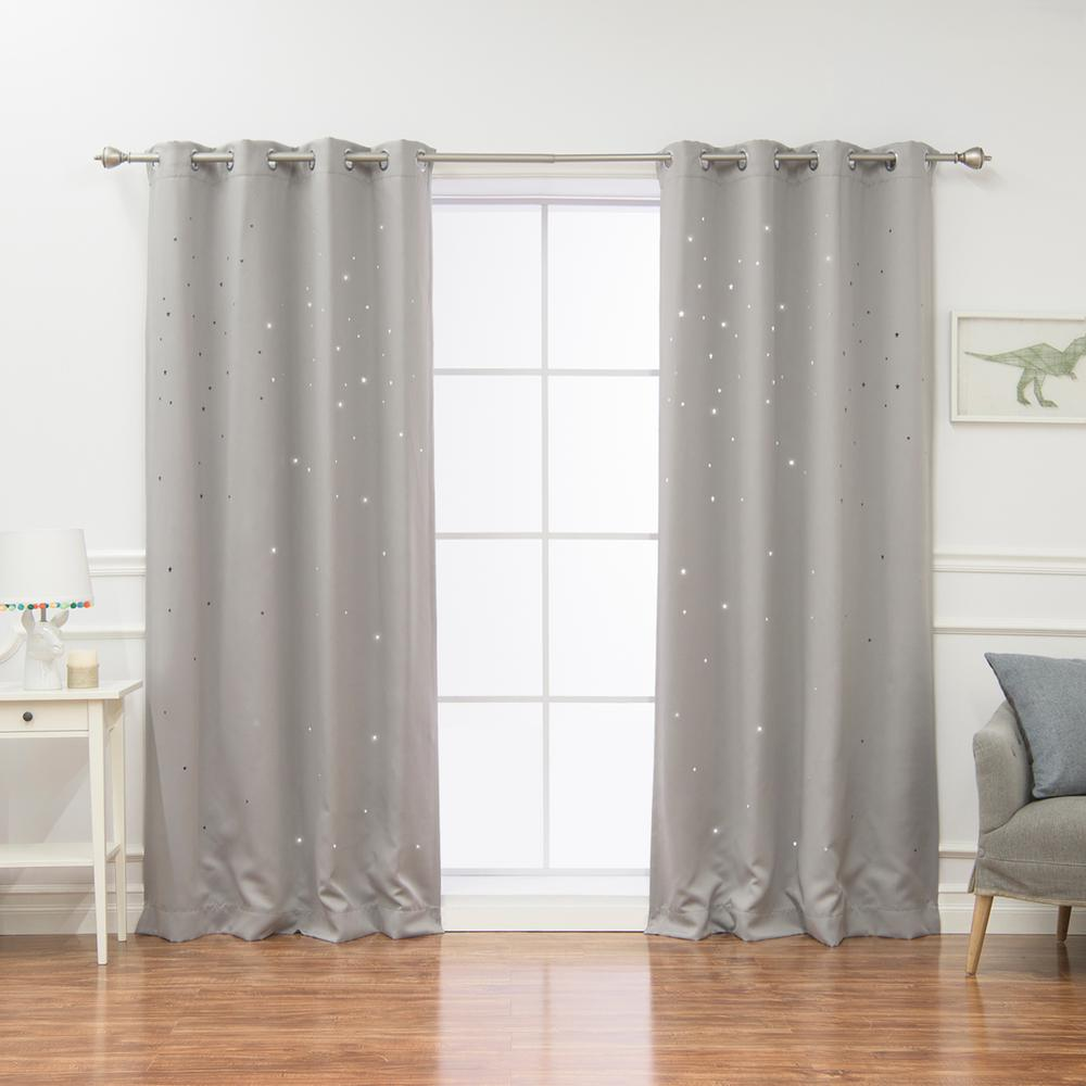 L Star Cut Out Blackout Curtains In Dove 2