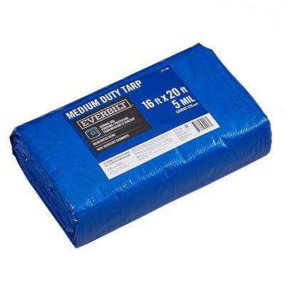 16 ft. x 20 ft. Blue Medium Duty Tarp