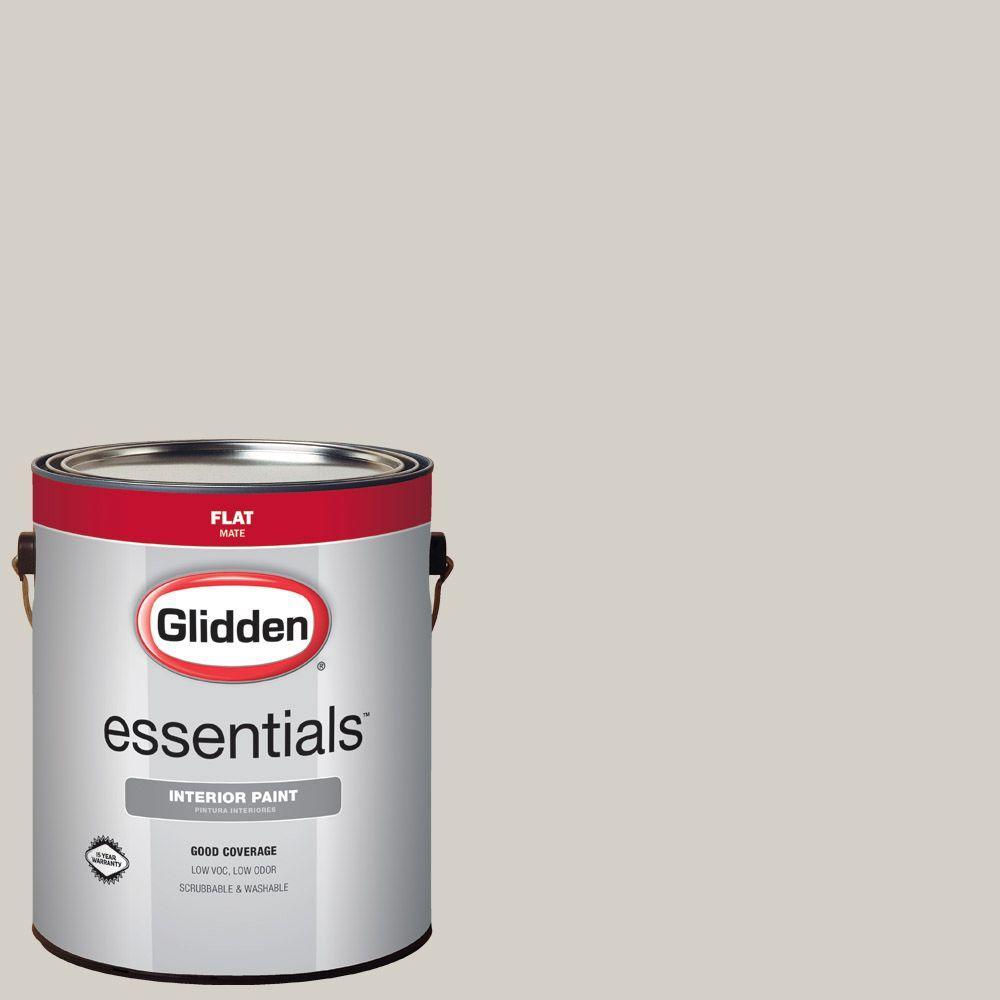 Glidden Essentials 1 Gal Hdgwn49 Smooth Stone Flat Interior Paint