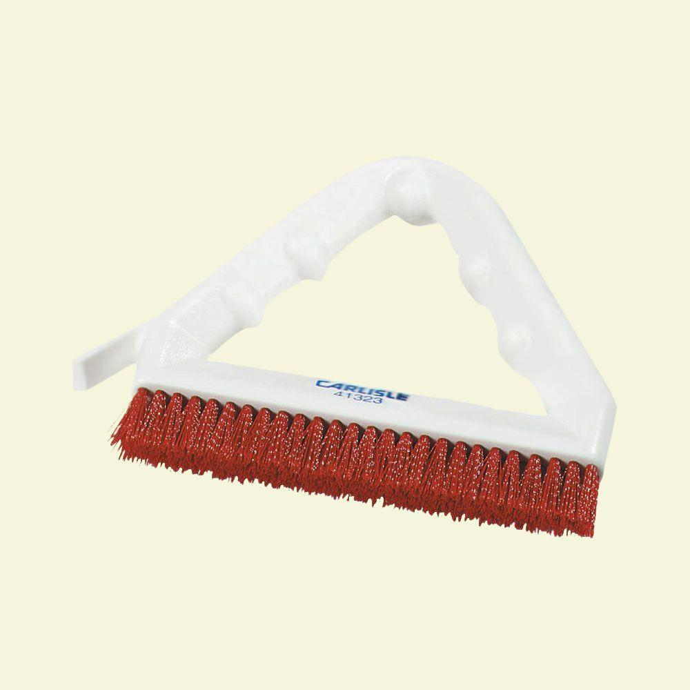 9 in. Nylon Red Tile and Grout Brush (Case of 12)