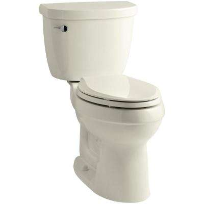 Cimarron 2-Piece 1.28 GPF Single Flush High Efficiency Elongated Toilet with AquaPiston Flushing Technology in Biscuit