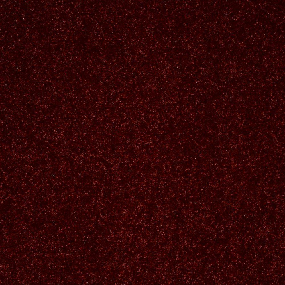 Full Bloom I - Color Salsa Dance Texture 12 ft. Carpet