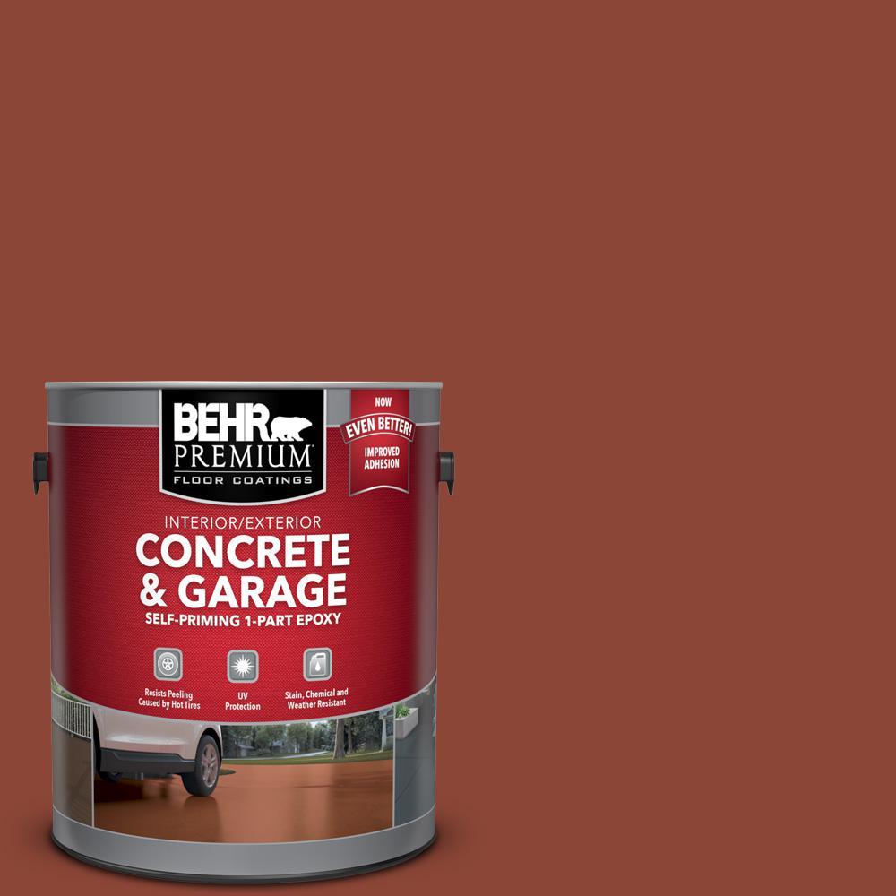 1 gal. #SC-330 Redwood Self-Priming 1-Part Epoxy Satin Interior/Exterior Concrete and Garage Floor Paint