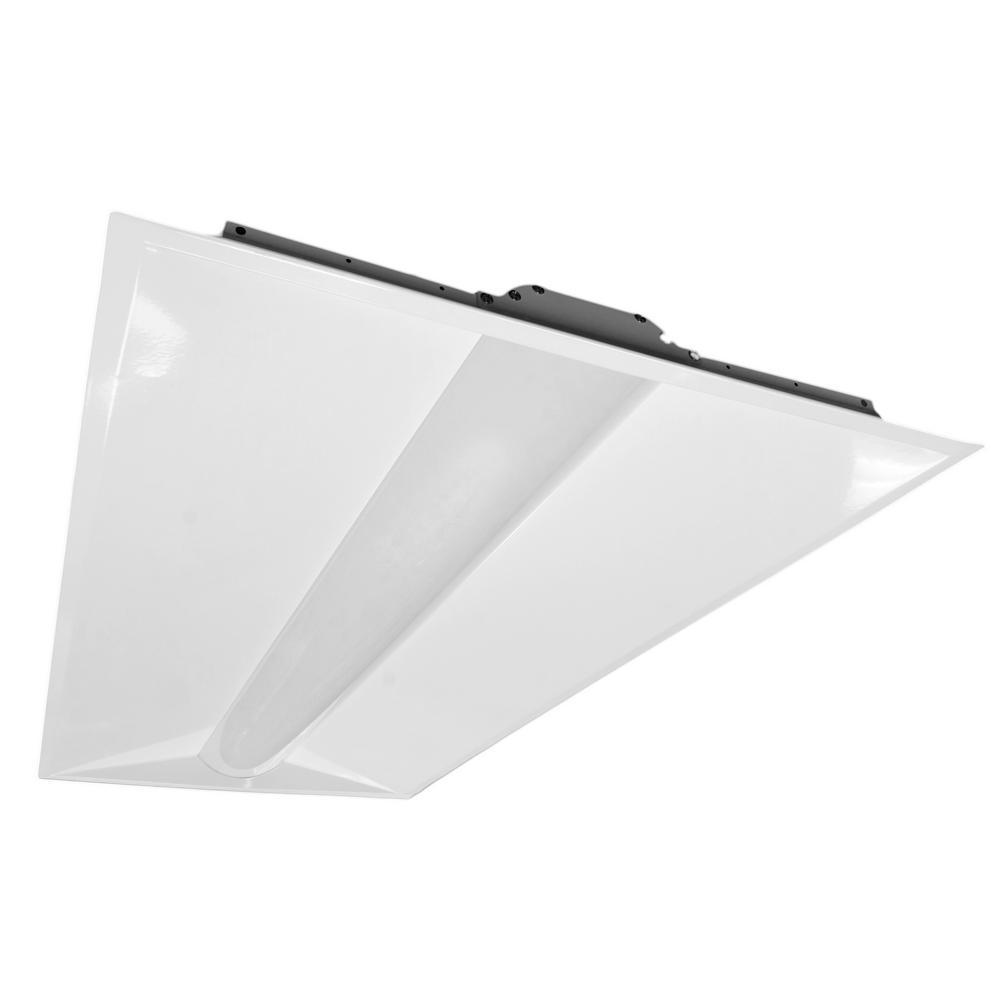2x4 Led Light Fixture Home Depot: T4AR Retrofit White Integrated LED Troffer In 4000K-T4AR