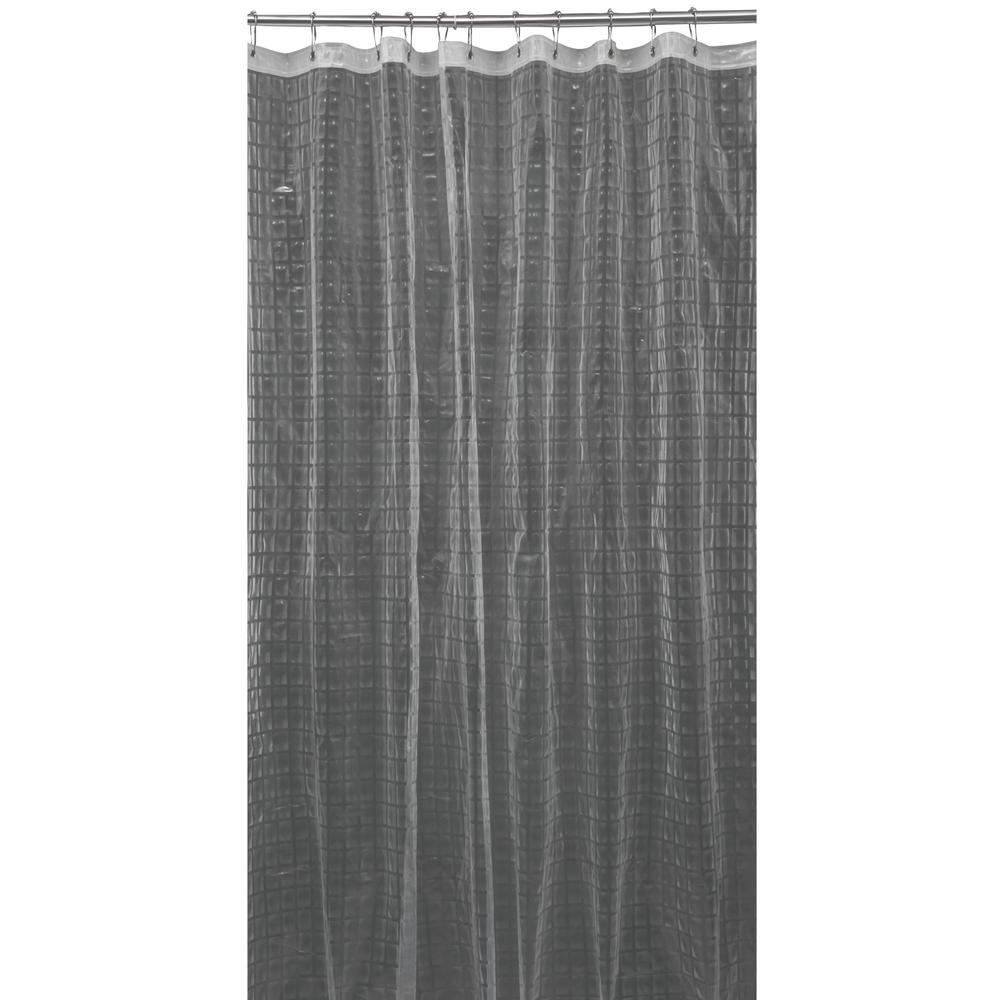 Bath Bliss 3d Eva 70 In X 72 In Octagon Design Grey Shower Curtain