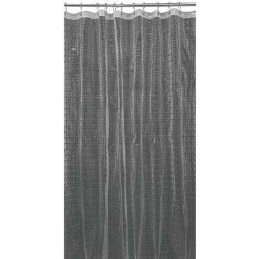 3D EVA 70 in. x 72 in. Octagon Design Grey Shower Curtain