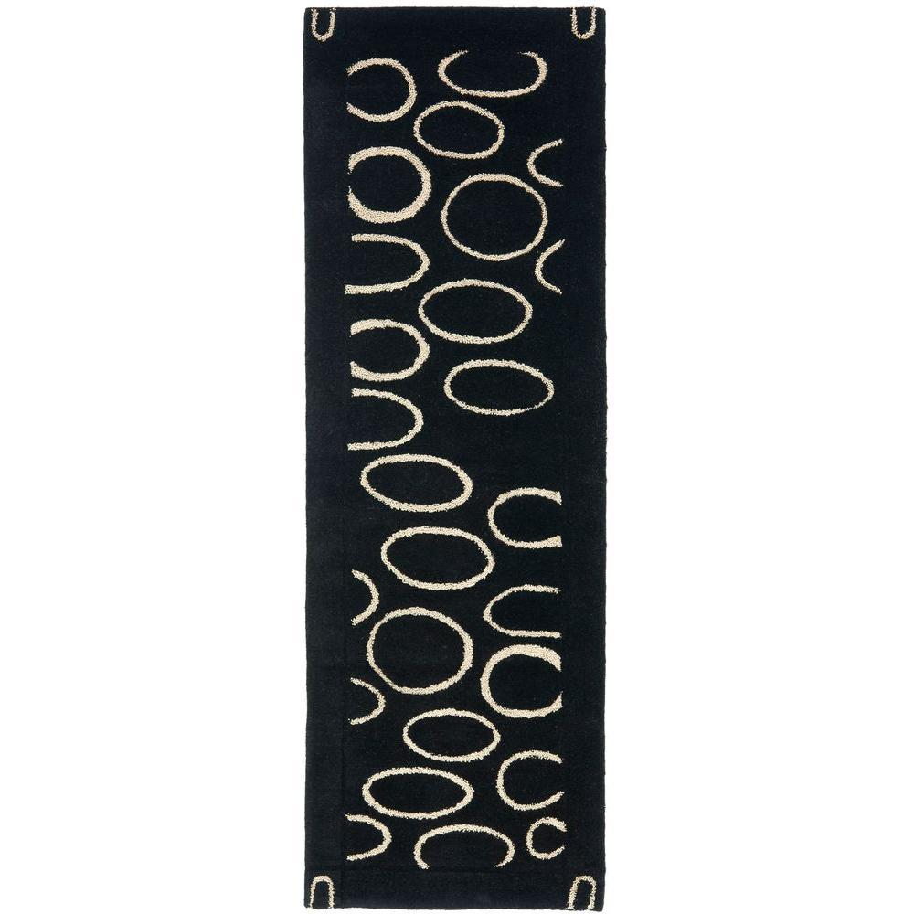 Soho Black/Ivory 2 ft. 6 in. x 12 ft. Runner
