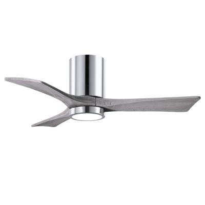Irene 42 in. LED Indoor/Outdoor Damp Polished Chrome Ceiling Fan with Remote Control and Wall Control