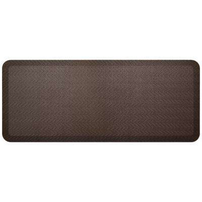 Designer Sisal Coffee Bean 20 in. x 48 in. Anti-Fatigue Comfort Kitchen Mat