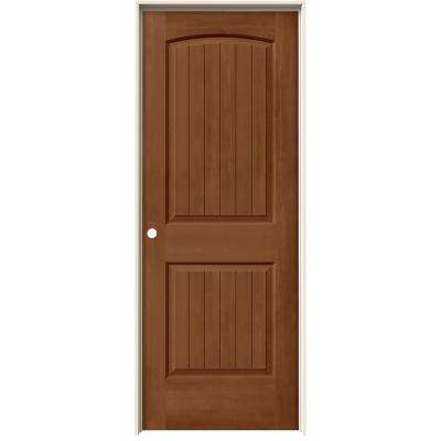 24 in. x 80 in. Santa Fe Hazelnut Stain Right-Hand Solid Core Molded Composite MDF Single Prehung Interior Door