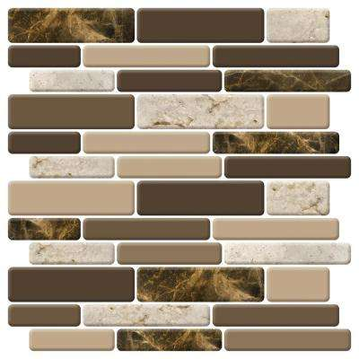 12 in. x 12 in. Peel and Stick Vinyl Backsplash Tile in Marble Design (6-Pack)