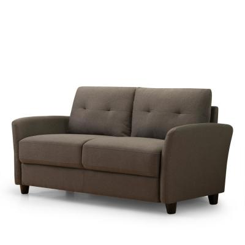 Ricardo 2-Seat Chestnut Brown Upholstered Loveseat