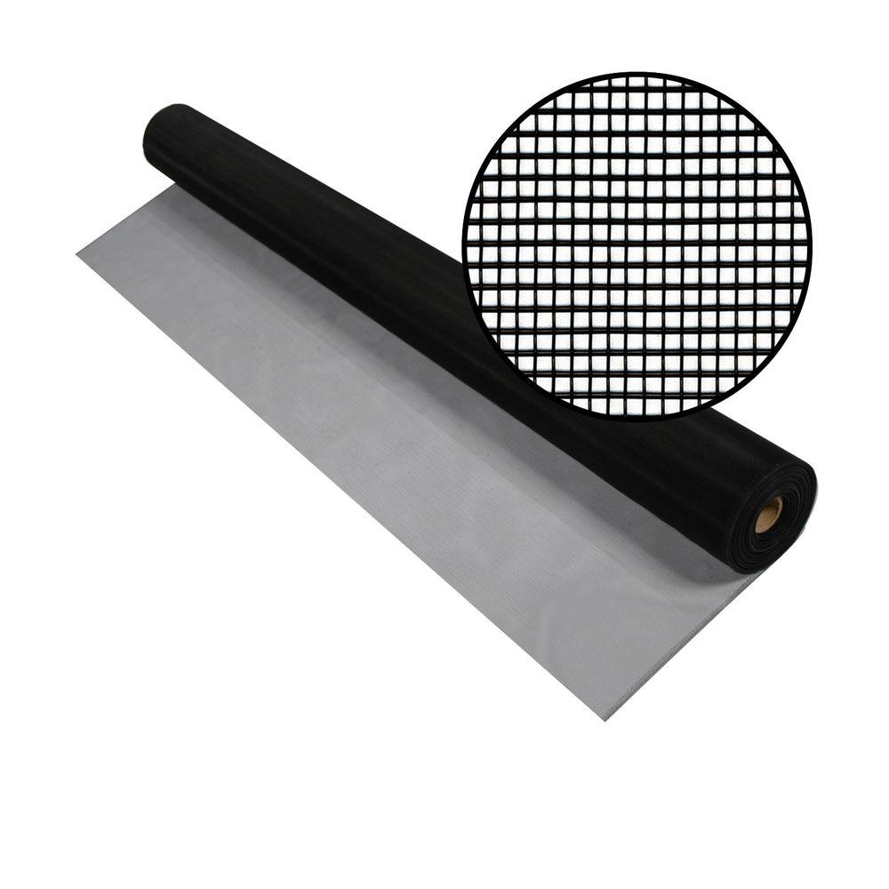 24 in. x 100 ft. Black Aluminum Screen