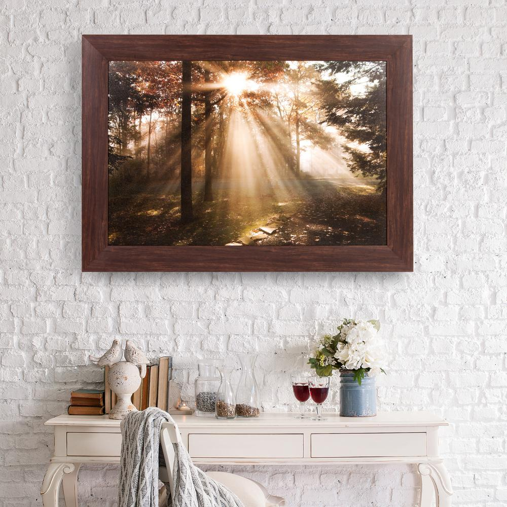 New Day Fall Framed Canvas Wall Art