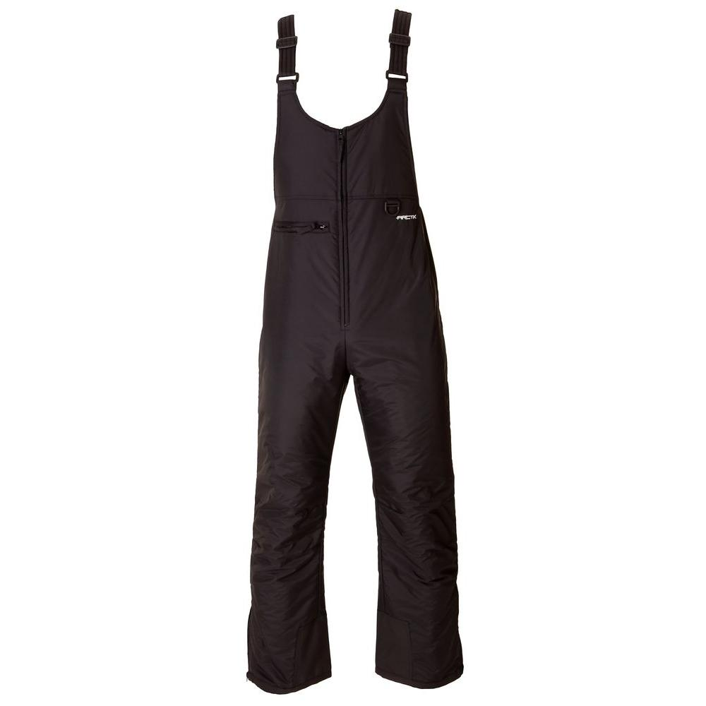 ARCTIX Mens Insulated Snow Bib Overall Large in Black