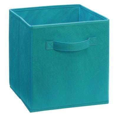 Cubeicals 11 in. H x 10.5 in. W x 10.5 in. D Fabric Storage Bin in Ocean Blue
