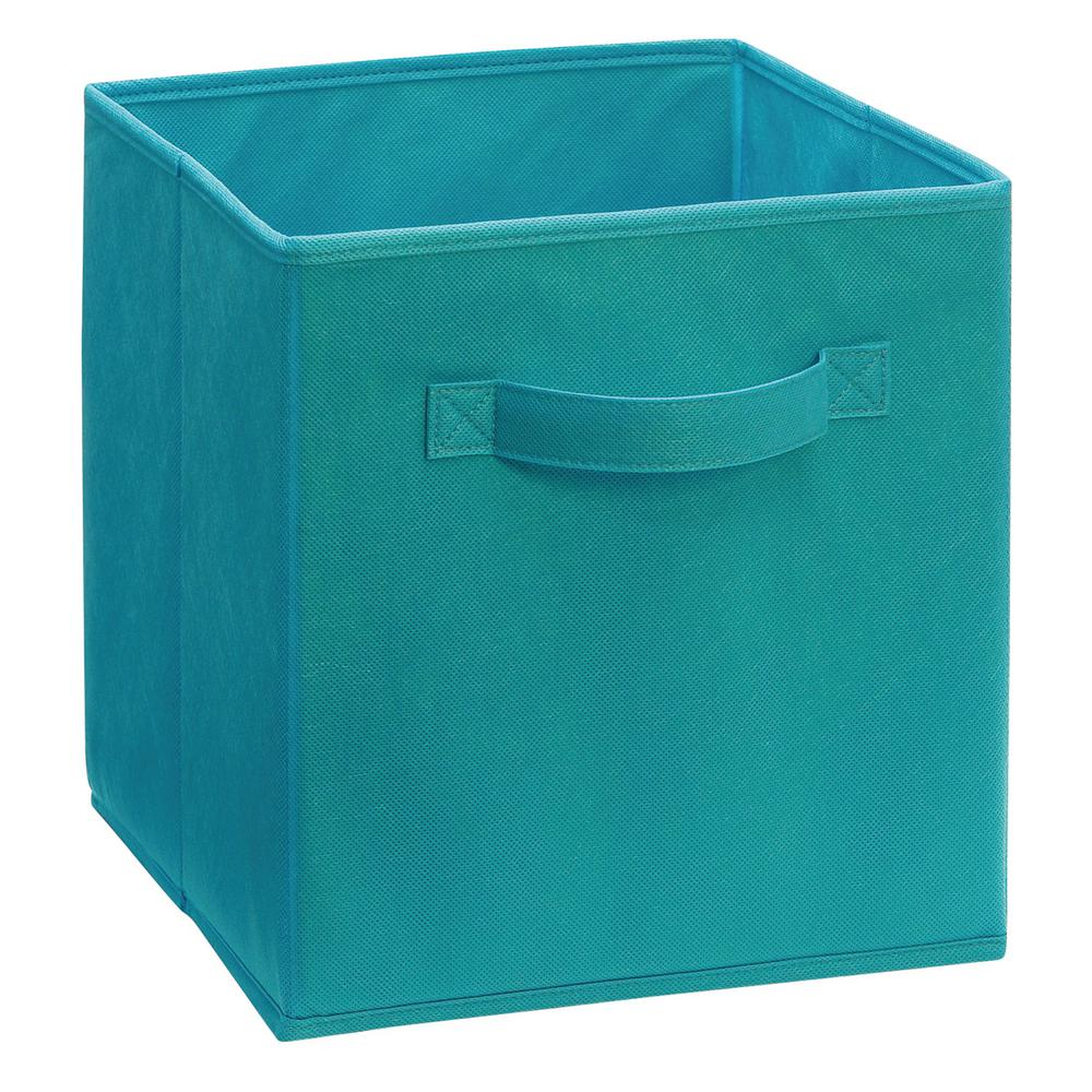 Closetmaid cubeicals 11 in h x 10 5 in w x 10 5 in d for Turquoise bathroom bin