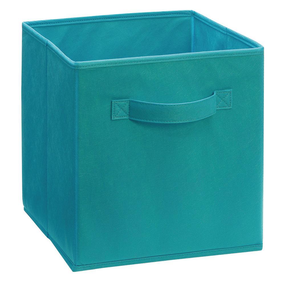 Closetmaid 11 In D X 11 In H X 11 In W Ocean Blue Fabric Cube Storage Bin 1530 The Home Depot