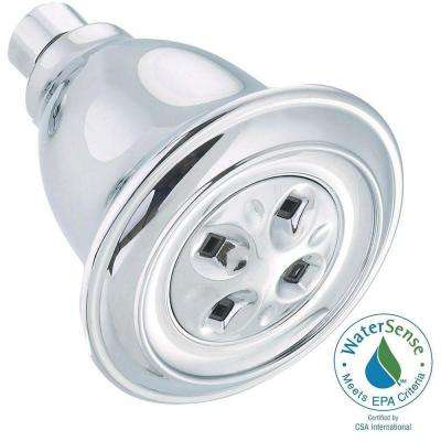 1-Spray 3.91 in. Showerhead with H2Okinetic in Chrome