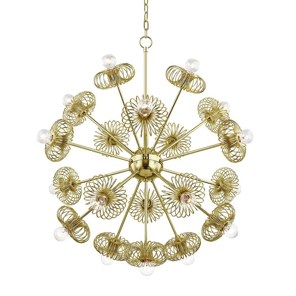 Serena 19-Light Polished Brass Chandelier