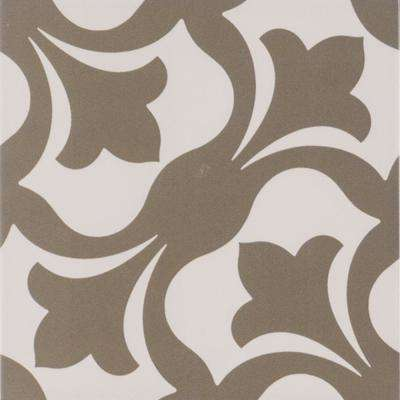 Menza Gray Encaustic 8 in. x 8 in. Glazed Porcelain Floor and Wall Tile (4.44 sq. ft. / case)