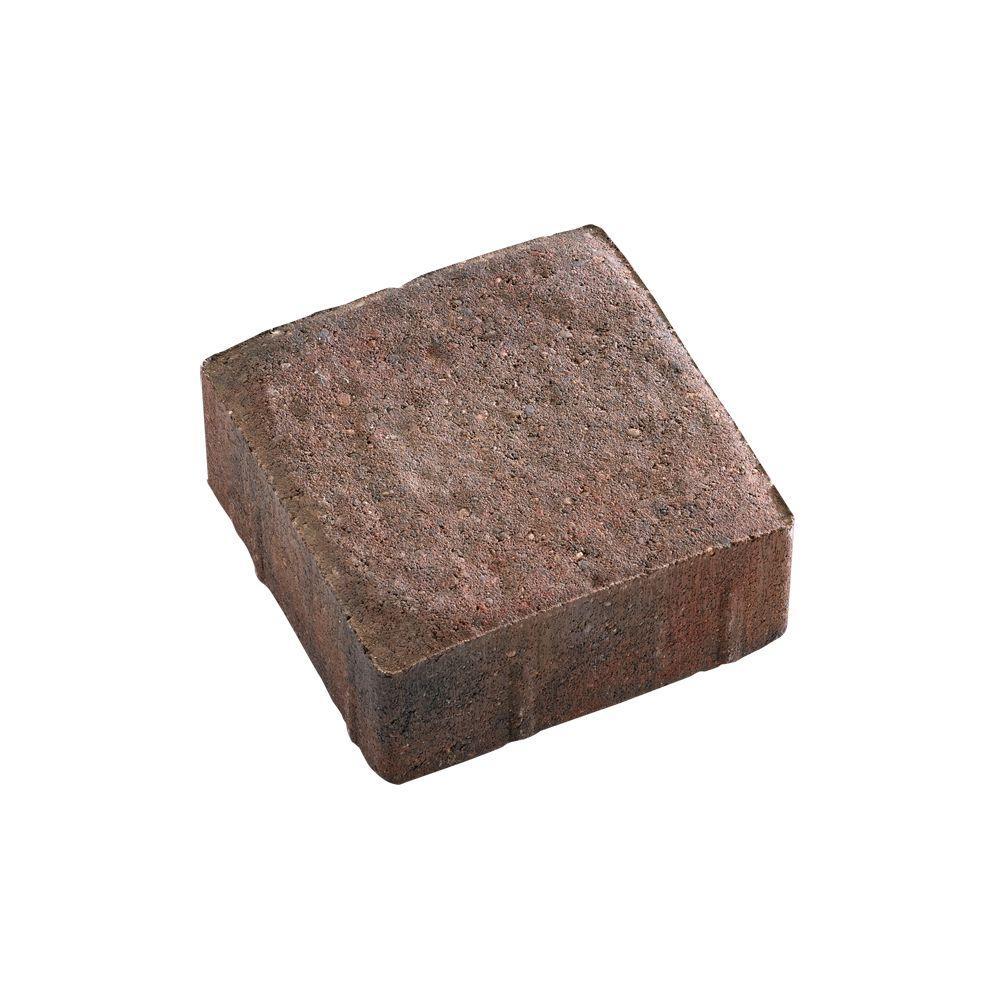 5.5 in. x 5.5 in. Autumn Blend Dutch Cobble Concrete Paver