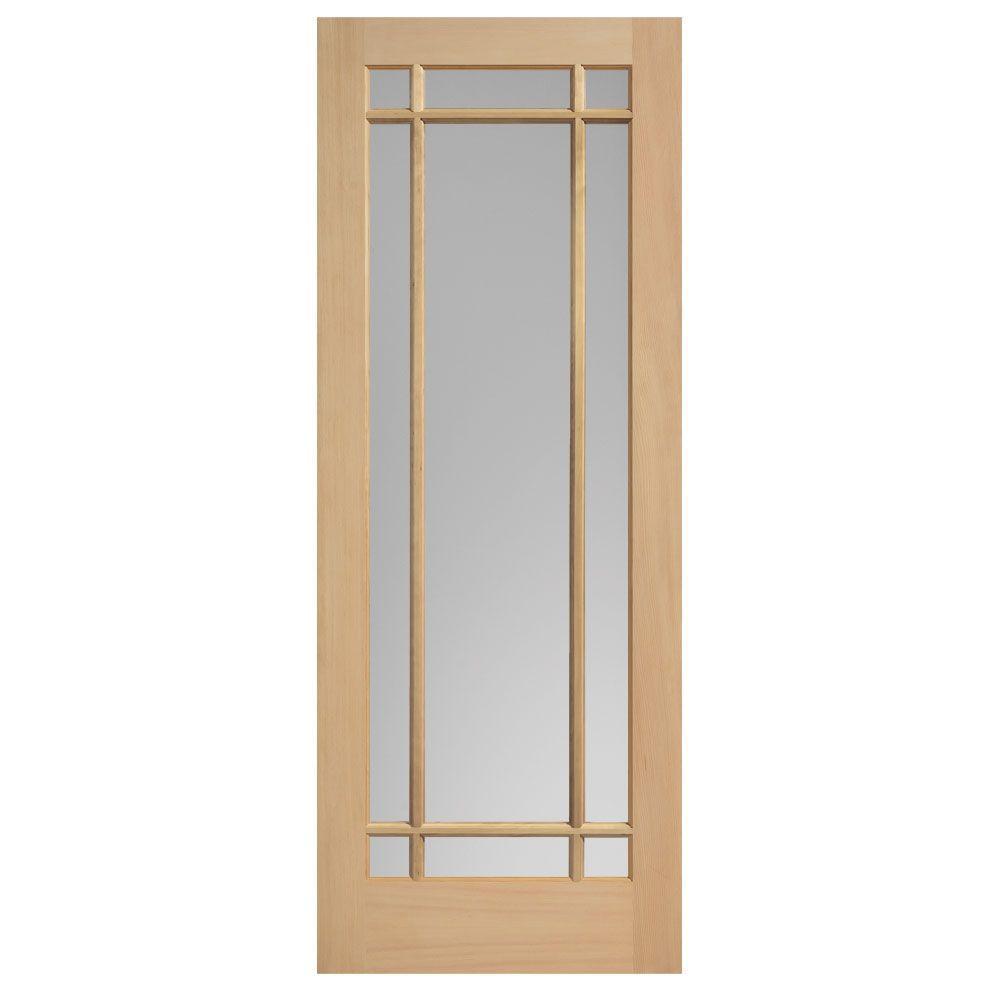 Prairie Maple Veneer 9 Lite Solid Wood Interior