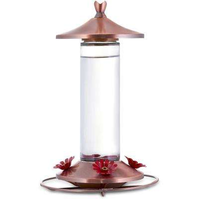 Elegant Glass Copper Hummingbird Feeder - 12 oz. Capacity