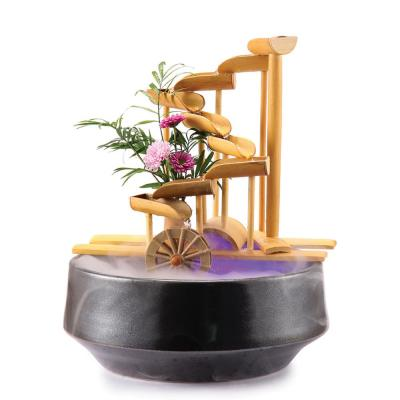 12 in. Bamboo Money Fountain-Complete with Pump and Tubing