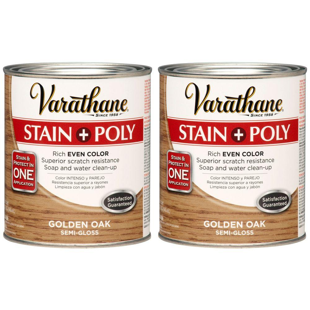 Varathane 1 Qt. Golden Oak Wood Stain and Polyurethane (2-Pack)-DISCONTINUED
