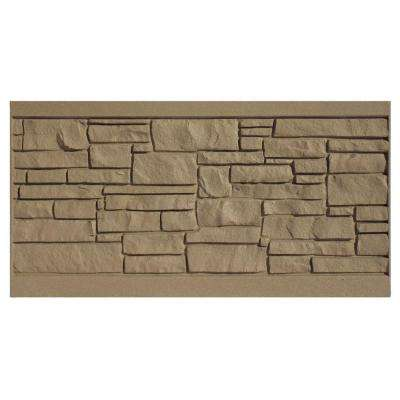 3 ft. H x 6 ft. W EcoStone Brown Composite Fence Panel