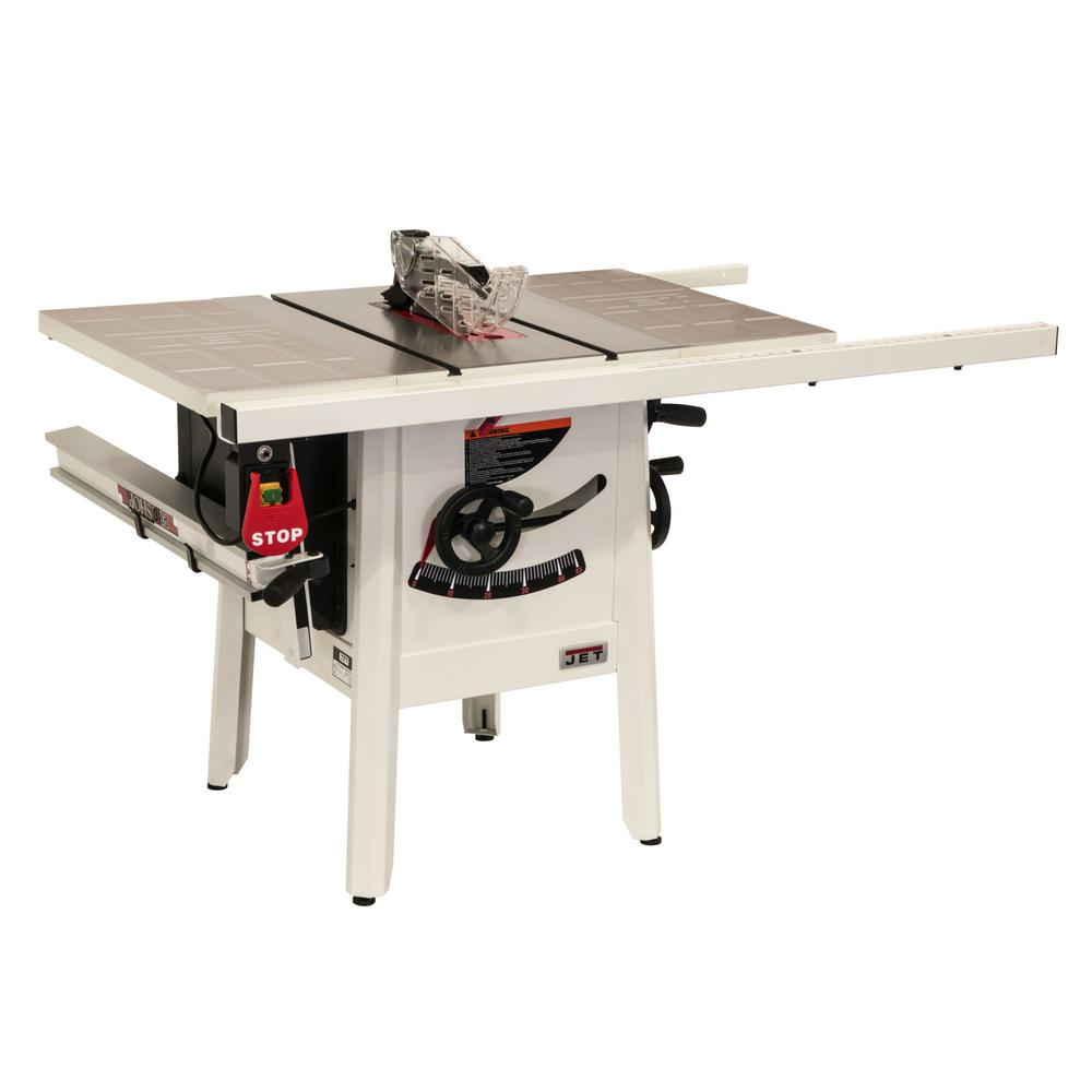 Jet ProShop II 10 in  table saw with 30 in  Rip Stamped Steel JPS-10
