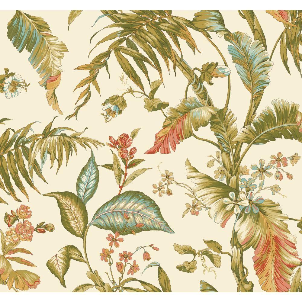 York Wallcoverings Tropics Fiji Garden Wallpaper AT7090