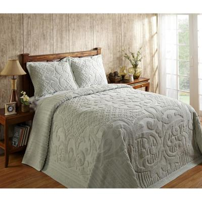 Ashton 1-Piece Sage Full Bedspread