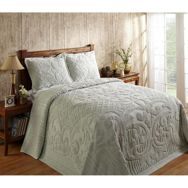 Better Trends Ashton 1-Piece Sage Full Bedspread