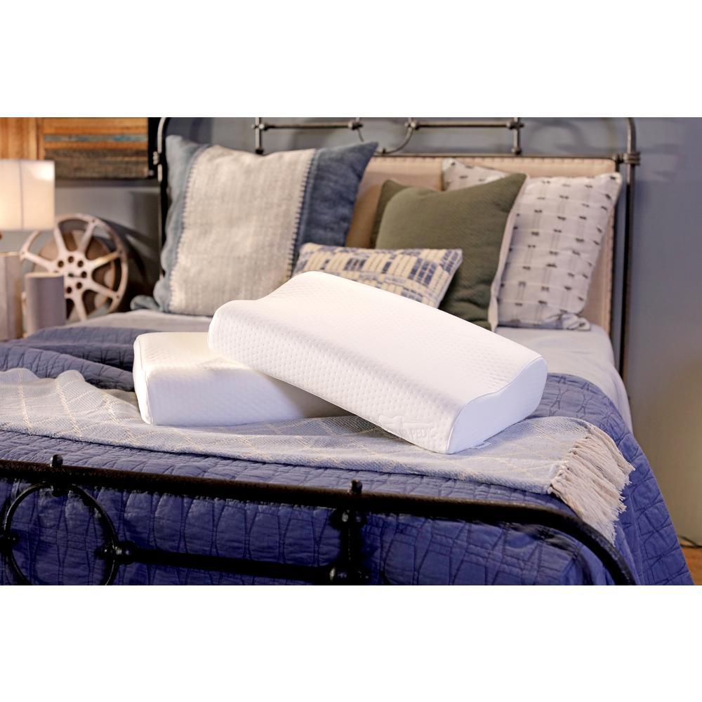 Tempur Pedic Small Standard Neck Pillow, White Material