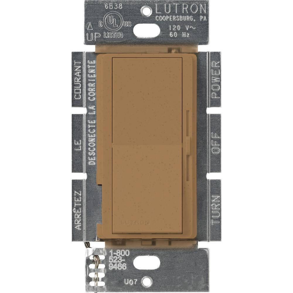Lutron Diva 1.5 Amp Single-Pole/3-Way 3-Speed Fan Control, Terracotta