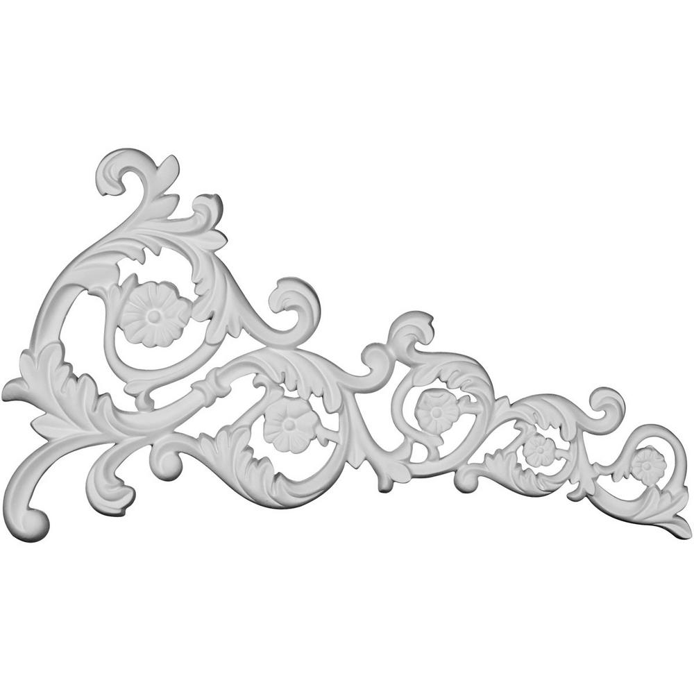 5/8 in. x 19-1/8 in. x 11 in. Applique Polyurethane Avery