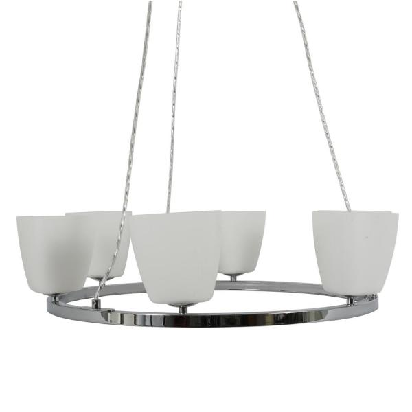 Rupp 6-Light Chrome Round Pendant