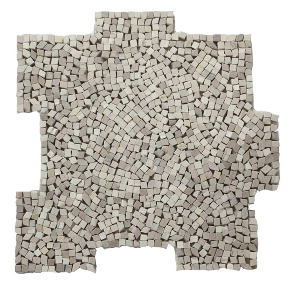 Solistone Palazzo Flavia 12 in. x 12 in. x 6.35 mm Decorative Pebble Mosaic Floor and Wall Tile (10 sq. ft. / case)