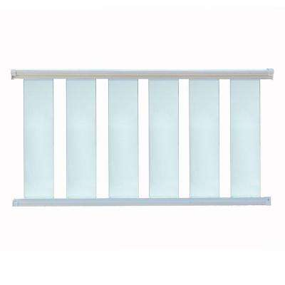 8 ft. x 36 in. White Aluminum Frame Glass Baluster Railing Kit