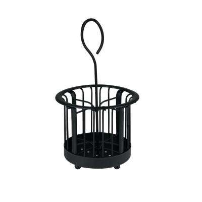 Ashley 6.375 in. W x 6.375 in. D x 11.25 in. H Hair and Beauty Accessory Caddy in Black