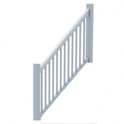 Original Rail Vinyl 8 ft. x 42 in. 32-38° Stair Rail Kit Including Square Baluster, White