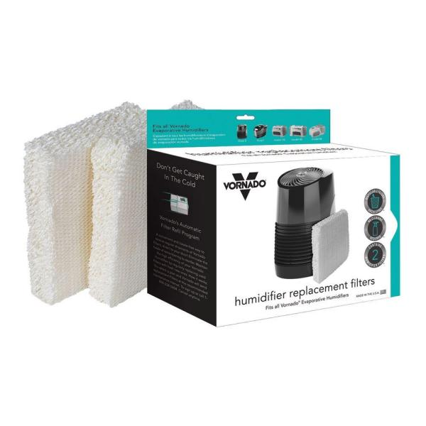 Vornado Evaporative Humidifier Replacement Wick Filters 2 Pack Md1 0001 The Home Depot
