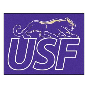 FANMATS NCAA University of Sioux Falls Purple 2 ft. 10 inch x 3 ft. 9 inch Accent Rug by FANMATS