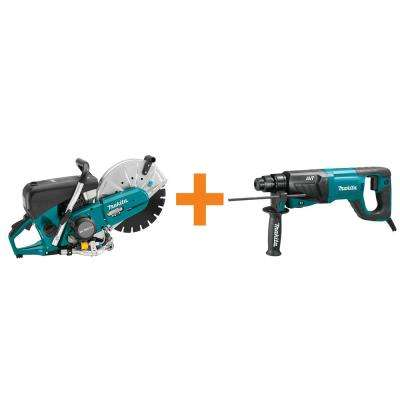 4-Stroke (MM4) 14 in. 76cc Gas Saw with Bonus 8 Amp 1 in. AVT SDS-Plus Rotary Hammer