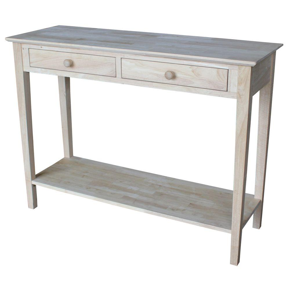 International Concepts Spencer Unfinished Storage Console Table. International Concepts Spencer Unfinished Storage Console Table SV